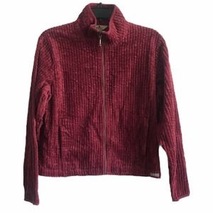 WoolRich Black Cherry Corduroy Full Zip Jacket M